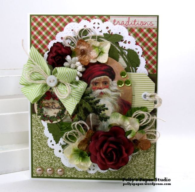 Traditions Christmas Greeting Card Polly's Paper Studio 01