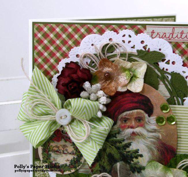Traditions Christmas Greeting Card Polly's Paper Studio 04