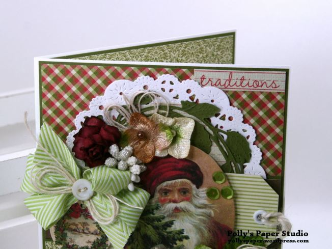 Traditions Christmas Greeting Card Polly's Paper Studio 05