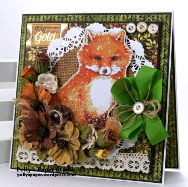 Autumn Fox Greeting Card Polly's Paper Studio 01