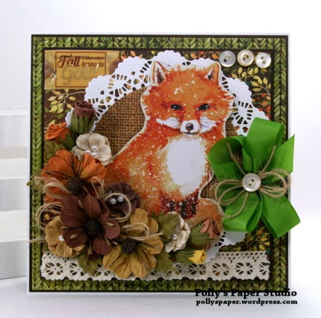 Autumn Fox Greeting Card Polly's Paper Studio 02
