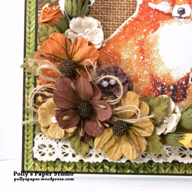 Autumn Fox Greeting Card Polly's Paper Studio 03
