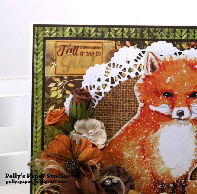 Autumn Fox Greeting Card Polly's Paper Studio 04