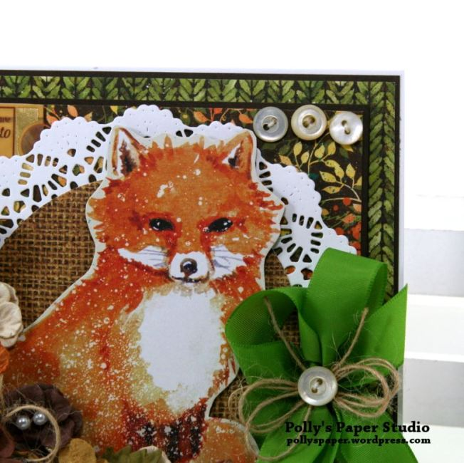 Autumn Fox Greeting Card Polly's Paper Studio 05