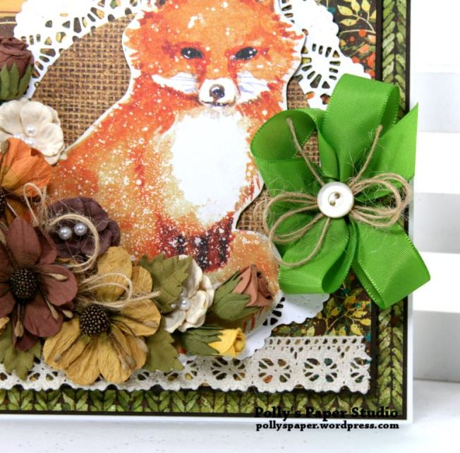 Autumn Fox Greeting Card Polly's Paper Studio 06
