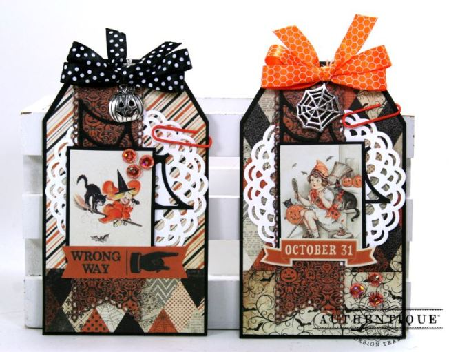 Halloween Pocket With Tags Polly's Paper Studio 03