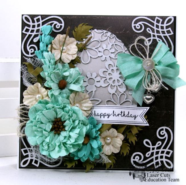 Happy Birthday Flower Card Polly's Paper Studio 02