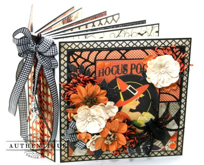 Hocus Pocus Halloween Mini Album Polly's Paper Studio 01