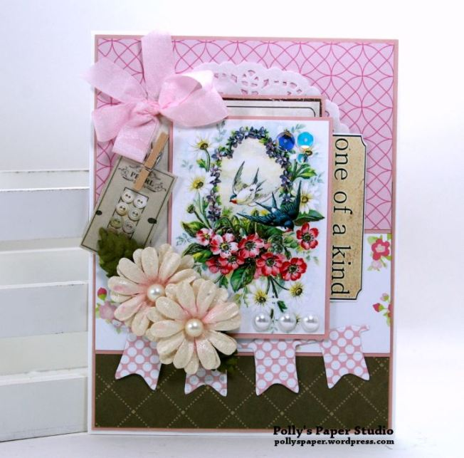 One of a Kind Card Polly's Paper Studio 01