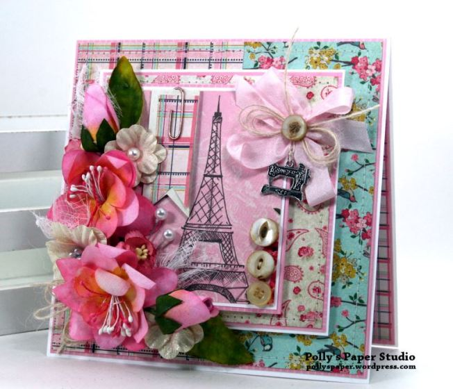 Shabby Paris Card Polly's Paper Studio 01