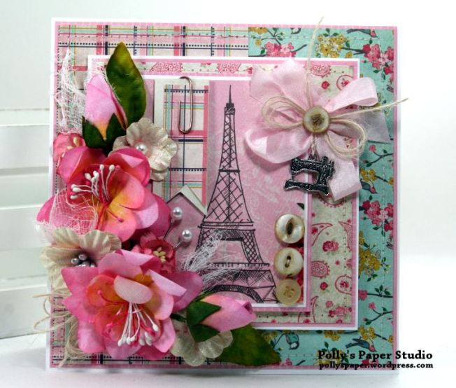 Shabby Paris Card Polly's Paper Studio 02