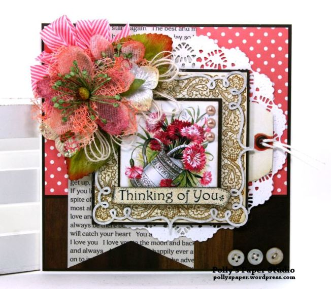 Thinking of You Card Polly's Paper Studio 01