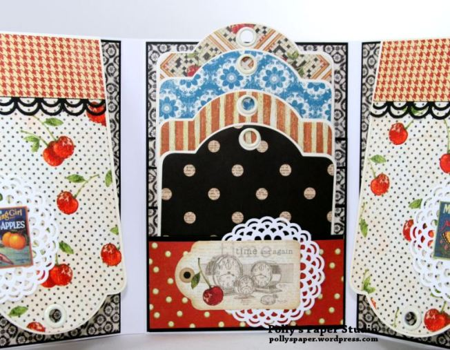 Time Nouveau Tri-Fold Flip Book Scrapbook Mini Album Polly's Paper Studio 03