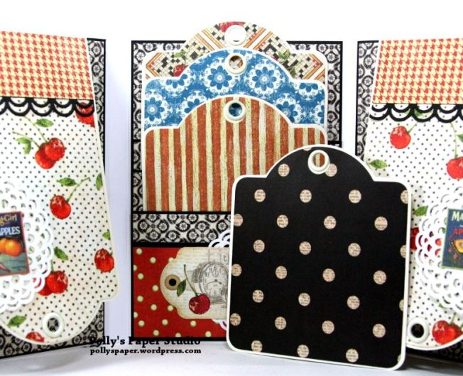 Time Nouveau Tri-Fold Flip Book Scrapbook Mini Album Polly's Paper Studio 04