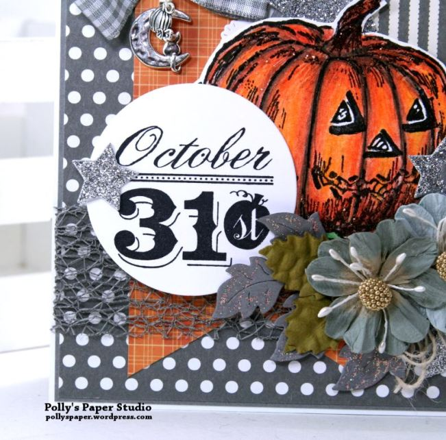 Color Blocking Halloween Card Polly's paper Studio 03