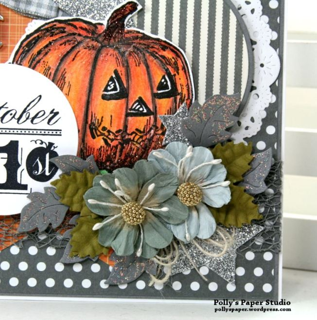 Color Blocking Halloween Card Polly's paper Studio 04