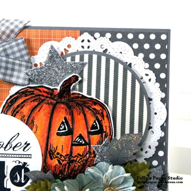 Color Blocking Halloween Card Polly's paper Studio 06