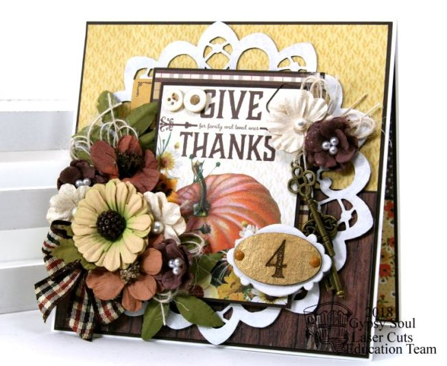 Give Thanks Greeting Card Polly's Paper Studio 01