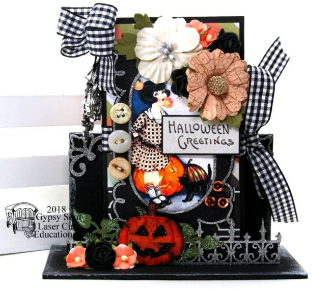 Halloween Greetings Mini Album in Stand Polly's Paper Studio 01