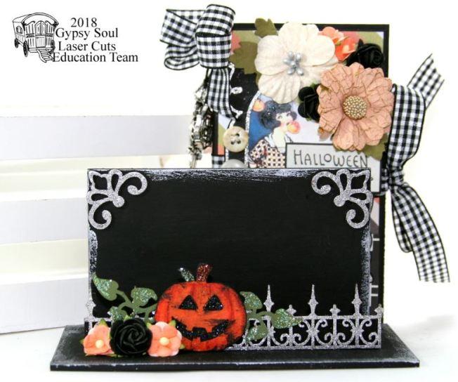 Halloween Greetings Mini Album in Stand Polly's Paper Studio 02