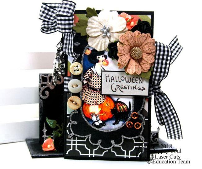 Halloween Greetings Mini Album in Stand Polly's Paper Studio 03