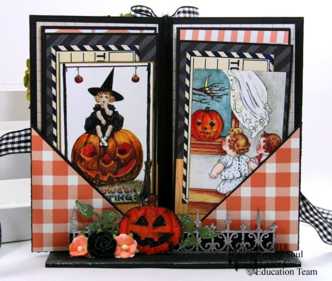 Halloween Greetings Mini Album in Stand Polly's Paper Studio 04