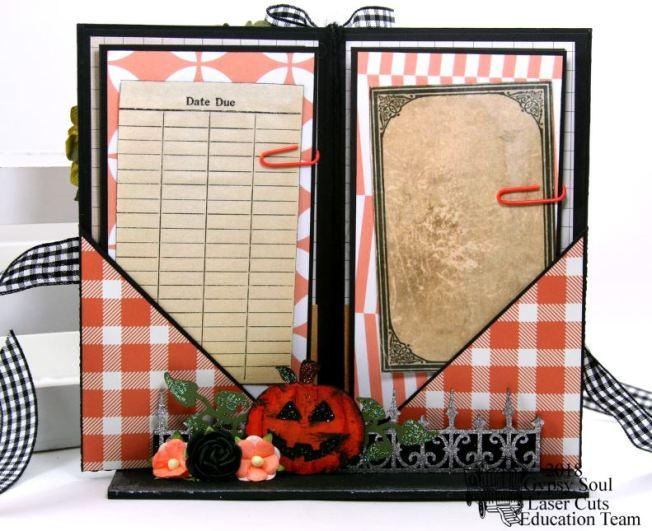 Halloween Greetings Mini Album in Stand Polly's Paper Studio 05