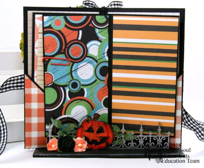 Halloween Greetings Mini Album in Stand Polly's Paper Studio 06