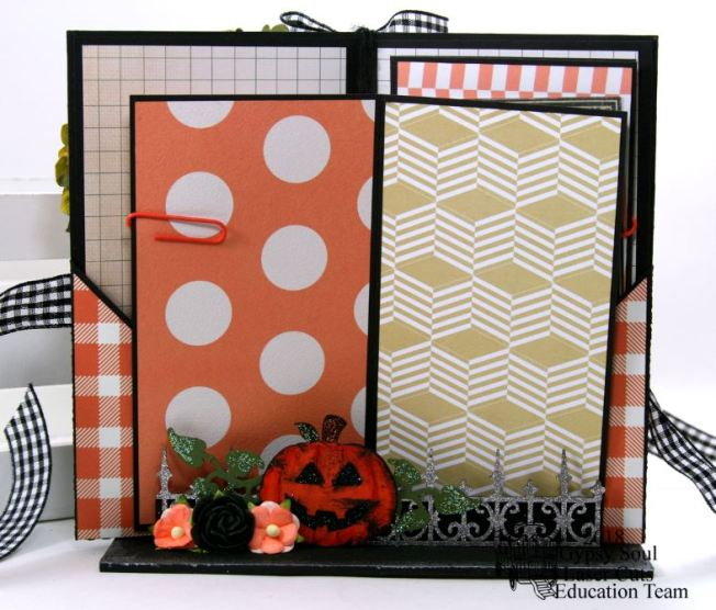 Halloween Greetings Mini Album in Stand Polly's Paper Studio 07
