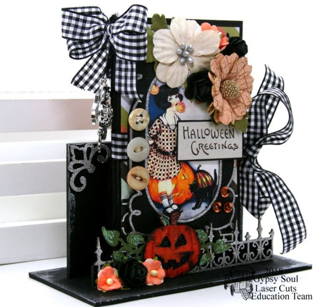 Halloween Greetings Mini Album in Stand Polly's Paper Studio 08