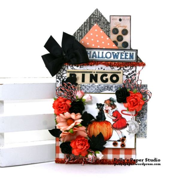 Halloween House Tag Polly's Paper Studio 01