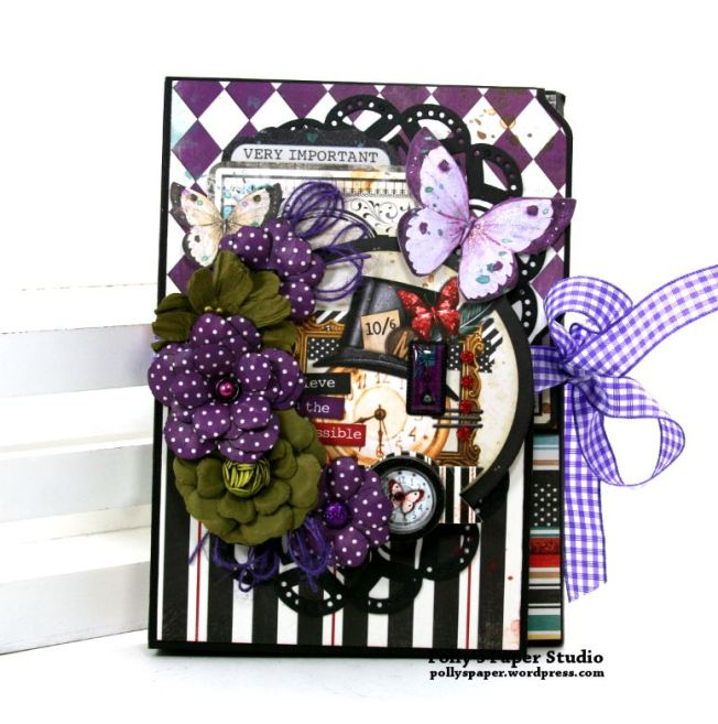 Halloween Mini Album Alice in Wonderland Themed Polly's Paper Studio 01