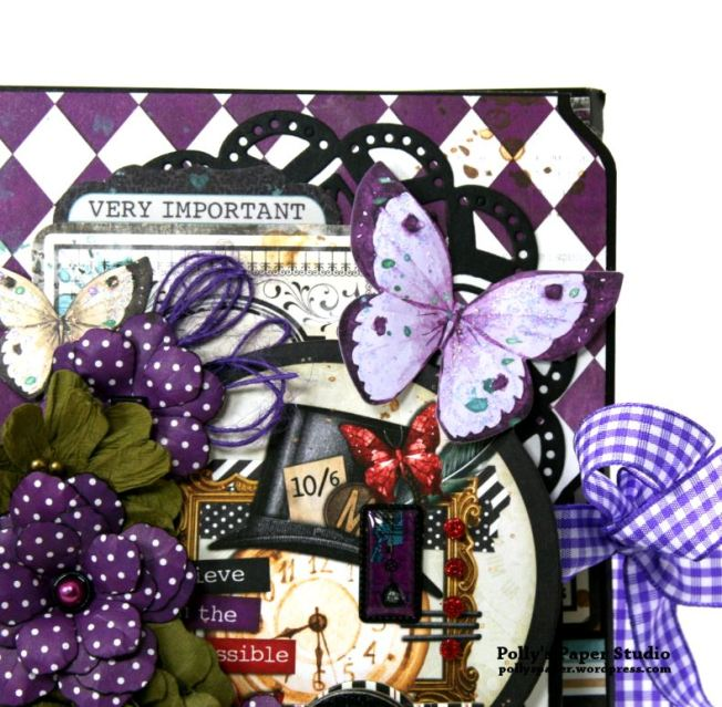 Halloween Mini Album Alice in Wonderland Themed Polly's Paper Studio 03