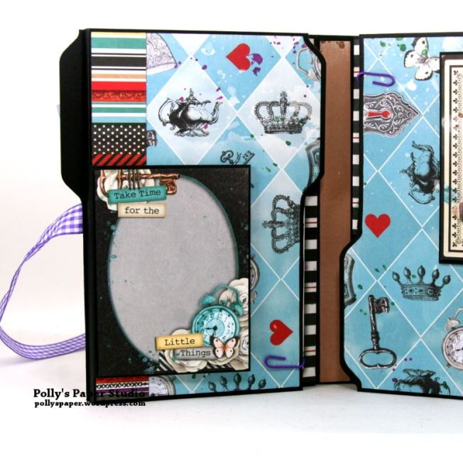 Halloween Mini Album Alice in Wonderland Themed Polly's Paper Studio 04