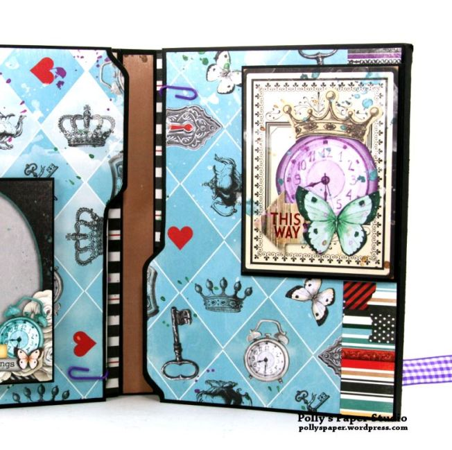 Halloween Mini Album Alice in Wonderland Themed Polly's Paper Studio 05