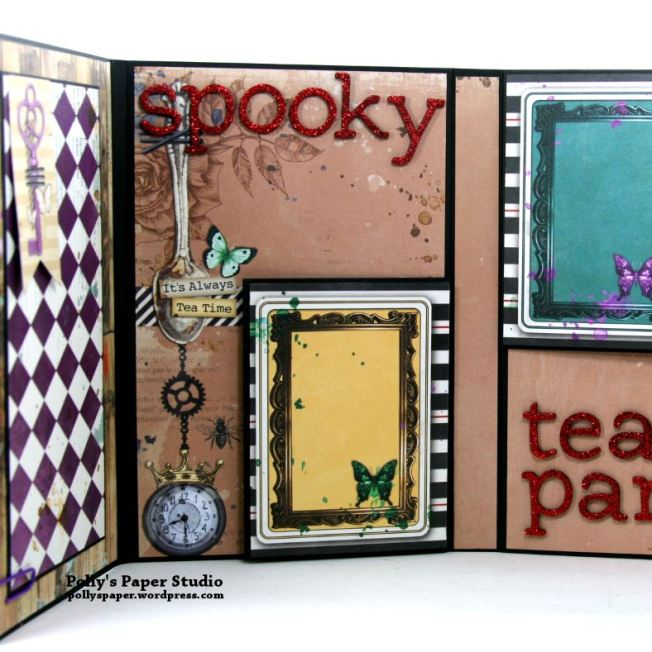 Halloween Mini Album Alice in Wonderland Themed Polly's Paper Studio 06