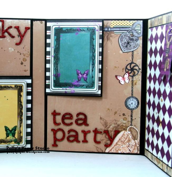 Halloween Mini Album Alice in Wonderland Themed Polly's Paper Studio 07
