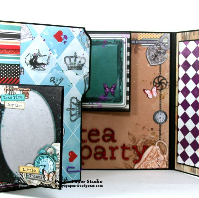 Halloween Mini Album Alice in Wonderland Themed Polly's Paper Studio 08