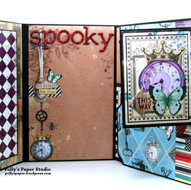 Halloween Mini Album Alice in Wonderland Themed Polly's Paper Studio 09