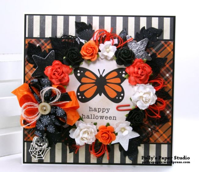 Happy Halloween Butterfly Greeting Card Polly's Paper Studio 02