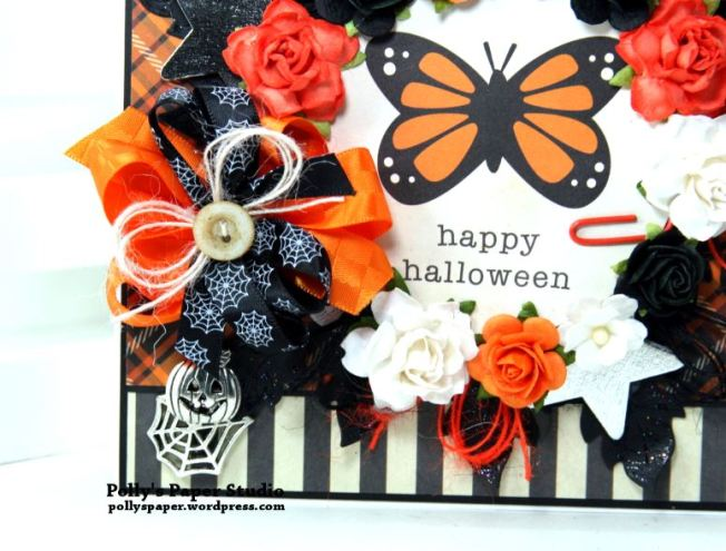 Happy Halloween Butterfly Greeting Card Polly's Paper Studio 03