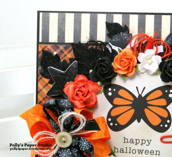 Happy Halloween Butterfly Greeting Card Polly's Paper Studio 04