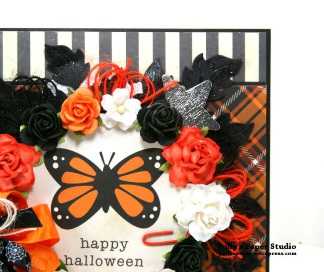 Happy Halloween Butterfly Greeting Card Polly's Paper Studio 05