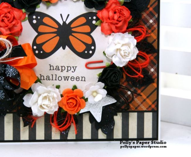 Happy Halloween Butterfly Greeting Card Polly's Paper Studio 06