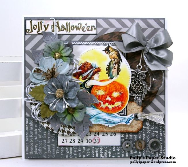 Jolly Halloween Greeting Card Polly's Paper Studio 01