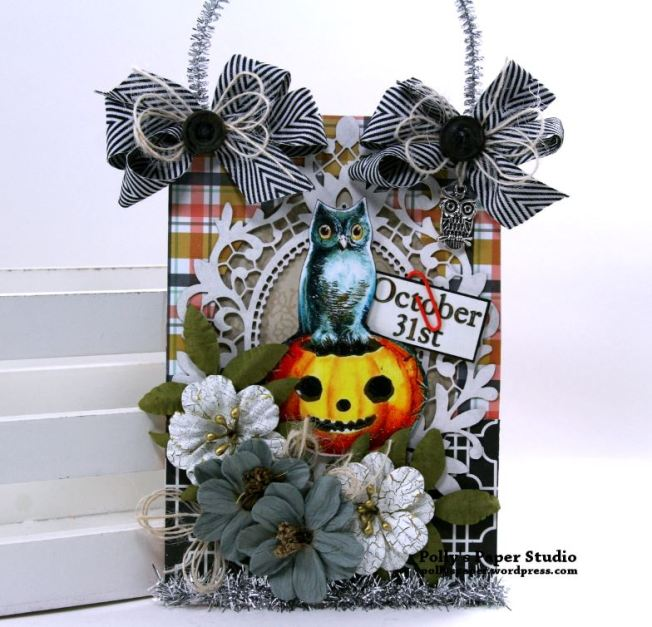 Oct 31st Halloween Wall Hanging Polly's Paper Studio 01
