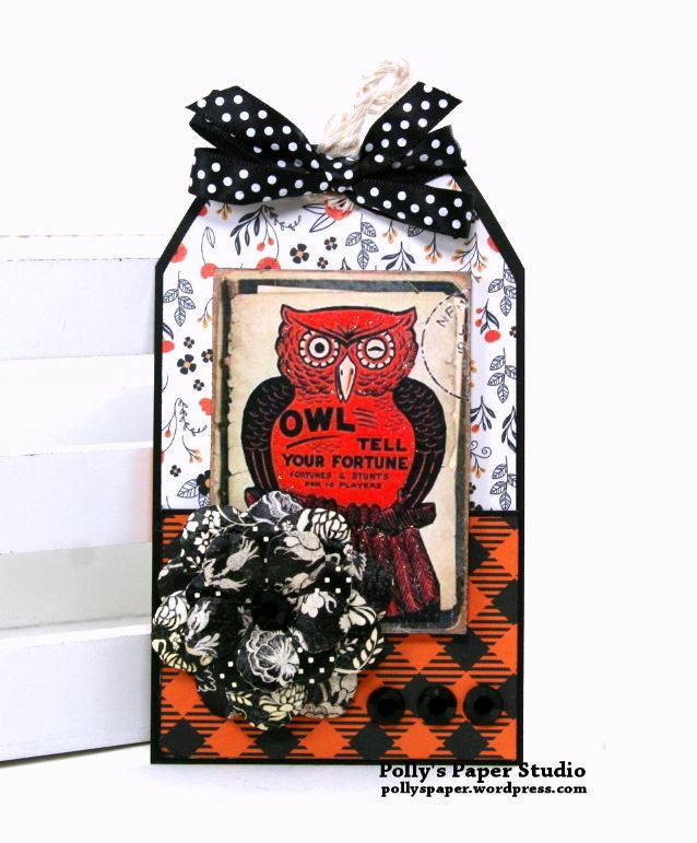 Owl Tell Your Fortune Halloween Tag Polly's Paper Studio