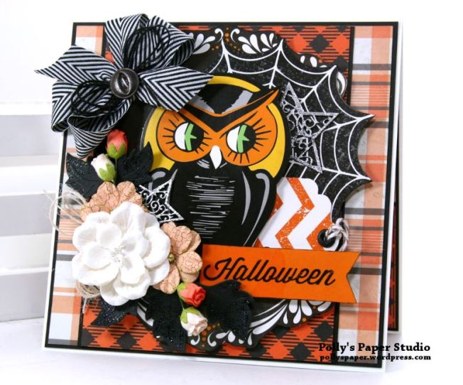 Retro Halloween Greeting Card Polly's Paper Studio 01