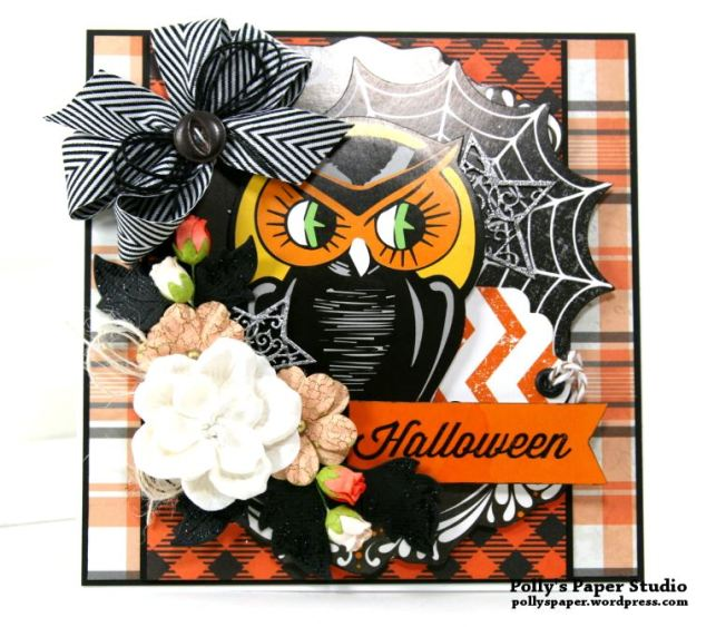 Retro Halloween Greeting Card Polly's Paper Studio 02
