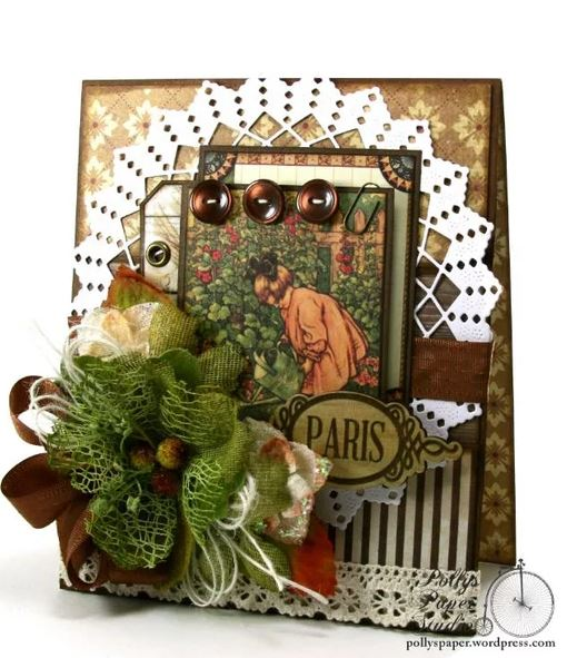 Vintage Children Paris Card